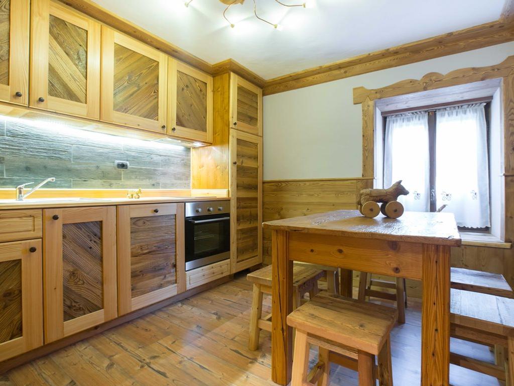 Apartment Genziana - Wohnzimmer Kochnische